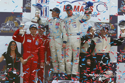 GT podium: race winners Lucas Luhr, Sascha Maassen, with Anthony Lazzaro, Ralf Kelleners and Justin Jackson, David Murry