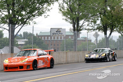 #33 ZIP Racing Porsche GT3 RS: Andy Lally, Spencer Pumpelly, and #03 Hyper Sport Panoz Esperante GT-LM Elan: Joe Foster, Brad Nyberg, Rick Skelton