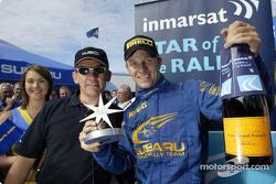 Petter Solberg wins Immarsat Star award of the Rally Finland