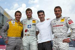 DTM vs boxing event: Timo Scheider, Martin Tomczyk, Markus Beyer and Bernd Schneider