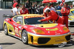#28 JMB Racing USA / Team Ferrari Ferrari 360 Modena on the starting grid