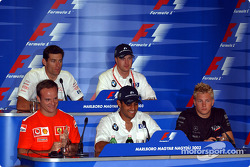 Thursday FIA press conference: Rubens Barrichello, Juan Pablo Montoya, Kimi Raikkonen, Mark Webber and Ralf Schumacher