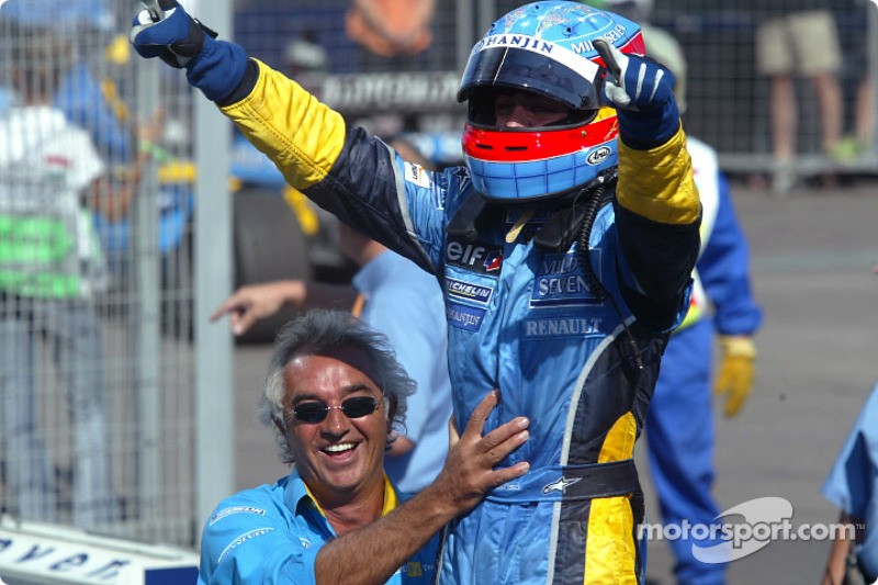 Première victoire Renault F1 avec Flavio Briatore, Hongrie 2003!