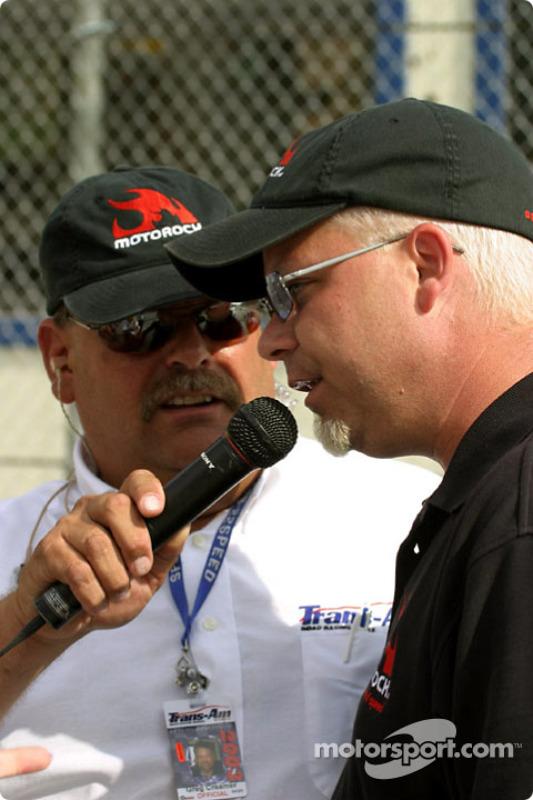 Greg Creamer, de Trans-Am, et le PDG de MotoRock Jamie Rose