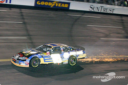 Michael Waltrip leaves a trail of sparks