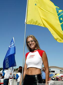 SPEED flag girl