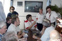 Meeting in Bridgestone paddock area