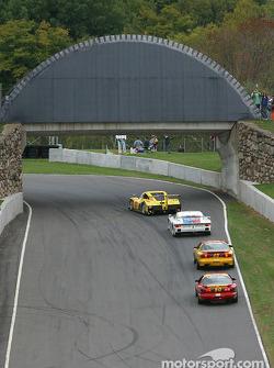 Race action at the bridge