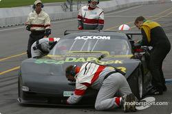 Pitstop for #38 Georgian Bay Motorsports Corvette: Jim Holton, Ted Martin, Stuart Hayner
