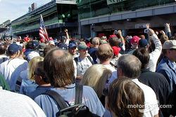 Crowd at pitwalk