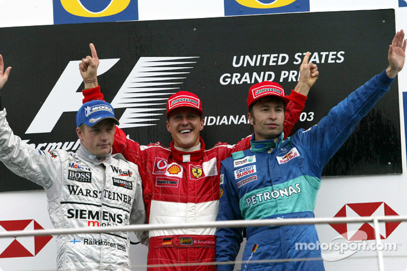 2003: 1. Michael Schumacher, 2. Kimi Räikkönen, 3. Heinz-Harald Frentzen