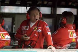 Jean Todt and Ross Brawn watch qualifying
