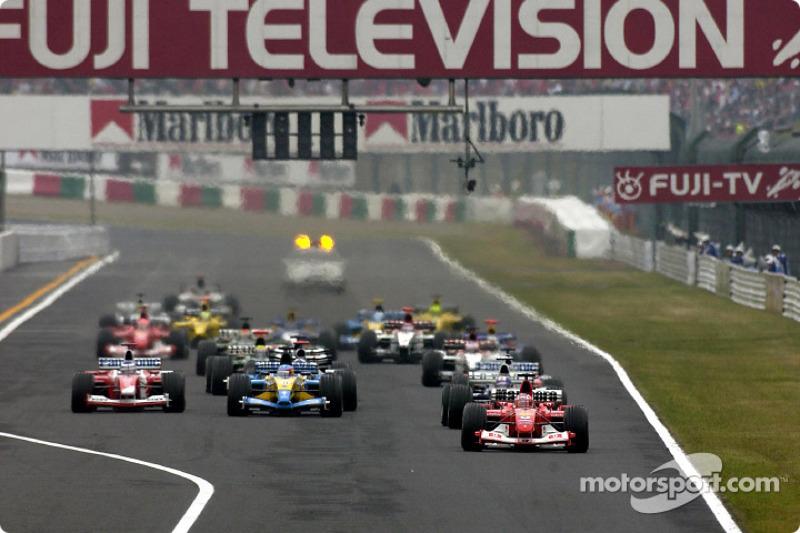 Arrancada: Rubens Barrichello líder