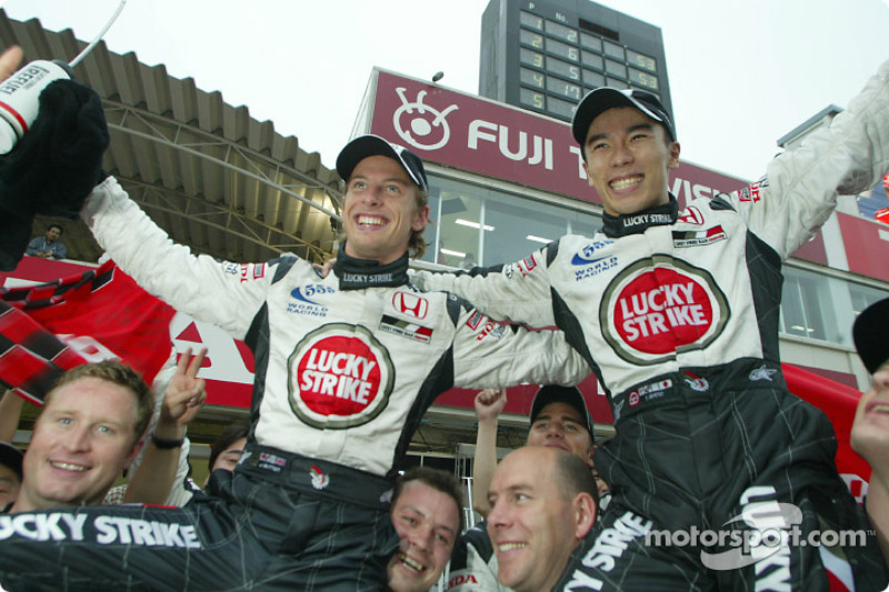 Jenson Button and Takuma Sato
