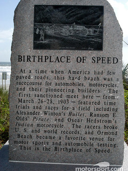 Birthplace of speed monument