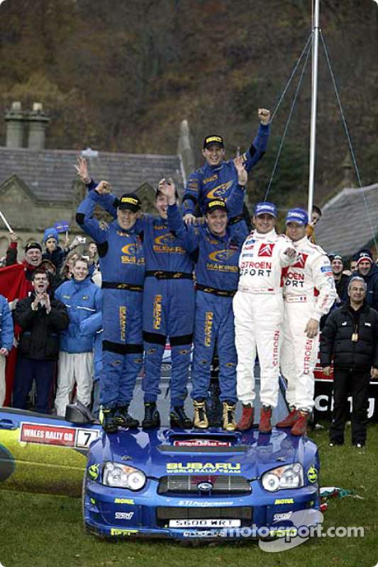 冠军皮特·索伯格、菲利普·米尔斯;塞巴斯蒂安·勒布、丹尼尔·艾伦纳;托米·马基宁、卡伊·林德斯特伦