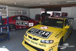 Garry Rogers Motorsport garage area