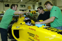 Jaroslav Janis has a seat fitting in the Jordan EJ13