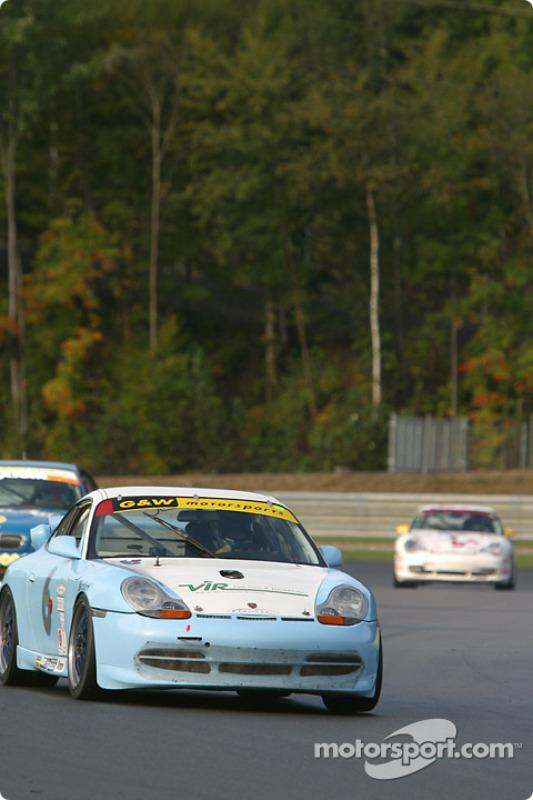 la Porsche GT3 Cup n°6 de l'équipe G&W Motorsports pilotée par Chris Dyson, Darren Law
