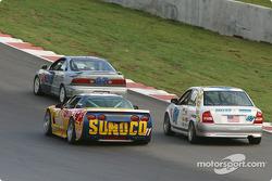 #11 Powell Motorsport Corvette Z06: Devon Powell, Doug Goad, and #57 Baglieracing Mazda Protégé: Dennis Baglier, Marty Luffy