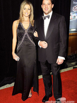 Tony Stewart avec sa petite amie