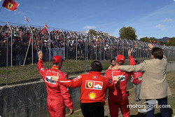 Michael Schumacher, Jean Todt, Luca Badoer et Luca di Montezemolo