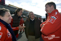 Jean Todt, John Elkann, Giuseppe Morchio and Ross Brawn