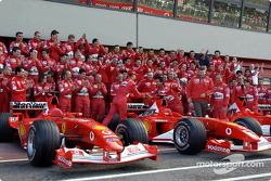 The drivers arrive at the Mugello circuit