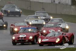 Shell Historic Ferrari-Maserati Challenge, grid C - The start