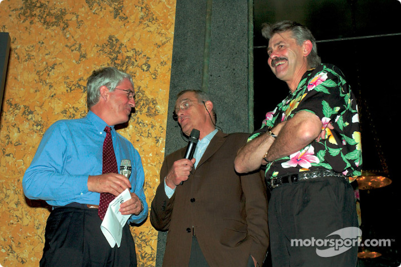 Mike Doodson con Paul Roche y Gordon Murray