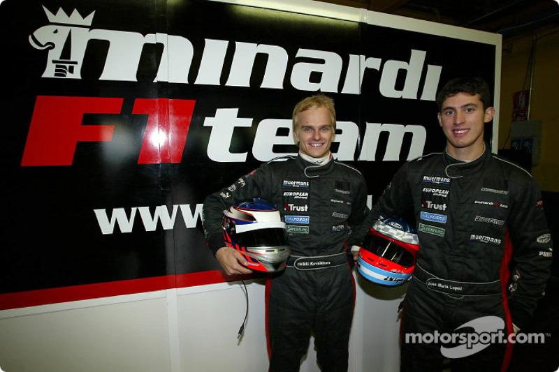 2003 - Essais chez Minardi
