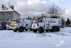 Le Team Tatra se prépare