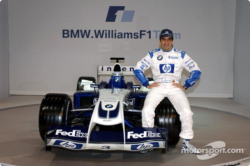 Test Pilotu Marc Gene ve yeni WilliamsF1 BMW FW26