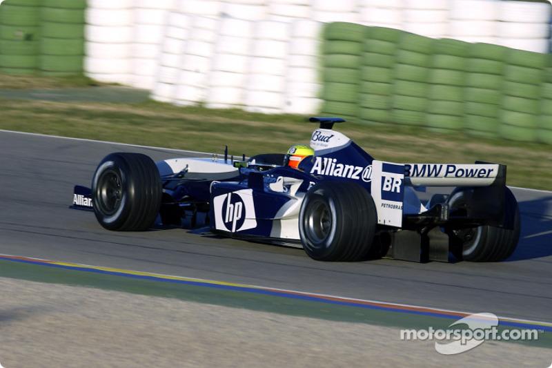 Ральф Шумахер тестує новий Williams FW26 BMW