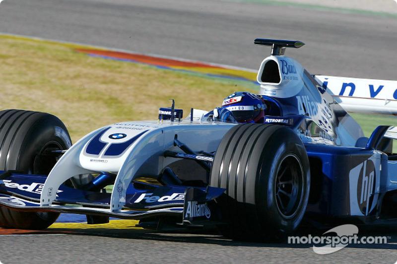 Хуан-Пабло Монтойя тестує новий Williams FW26 BMW