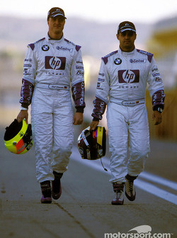Ralf Schumacher and Juan Pablo Montoya