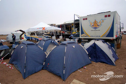 BMW X5 Rally Raid Team bivouac