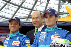 Felipe Massa, Peter Sauber and Giancarlo Fisichella