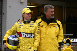 Nick Heidfeld and Eddie Jordan