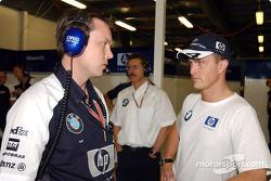 Sam Michael and Ralf Schumacher