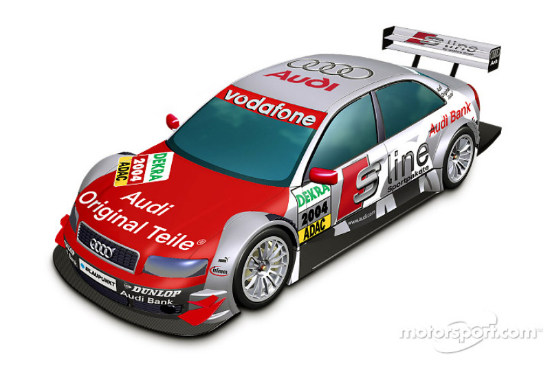 Rendering of the Audi A4 DTM
