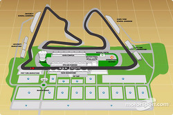 Bahrain International Circuit map