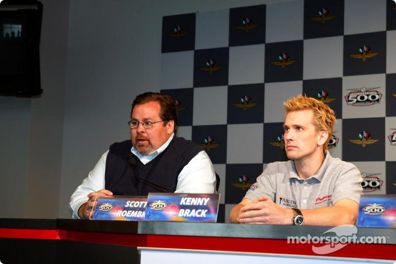 Team Rahal's Scott Roembke and Kenny Brack