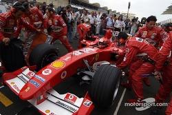 Startaufstellung: Michael Schumacher, Ferrari F2004