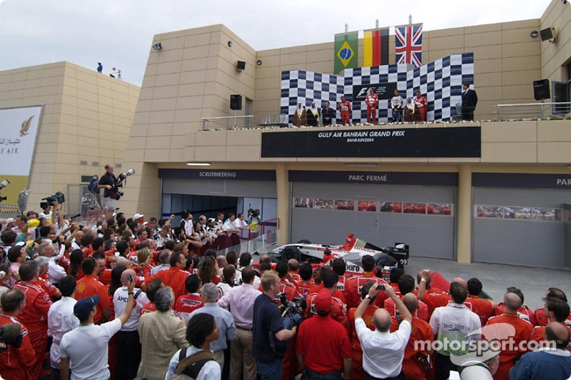 Podium: 1. Michael Schumacher, Ferrari; 2. Rubens Barrichello, Ferrari; 3. Jenson Button, BAR