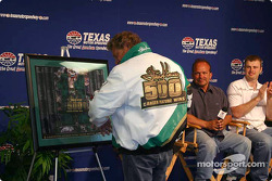 Steve Kinser models the special jacket