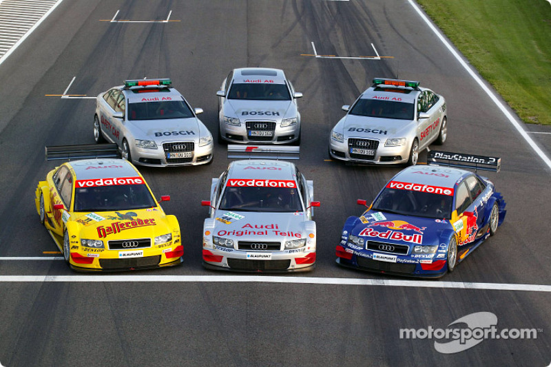 The Audi A4 DTM cars and DTM safety cars