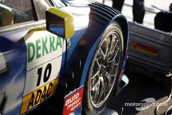 Manuel Reuter's car in the garage area