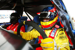 Timo Glock gives a prize winner a lap of the Nurburgring in a modified Ford Mondeo