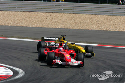 Rubens Barrichello and Giorgio Pantano